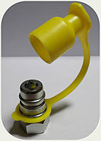 "БРС - Коннектор ""AL-Мale"" (папа) жёлтый, резьба M16x1,5"