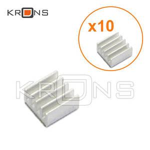 Алюминиевый радиатор 10шт мини 11х11х5мм для Raspberry PI