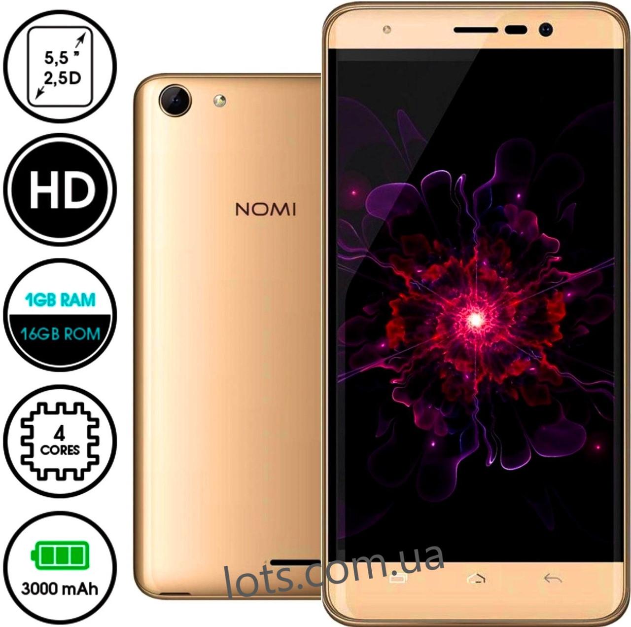 Смартфон Nomi i5510 1/16Gb Gold