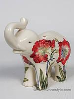 Фарфоровая статуэтка Слон (Pavone)