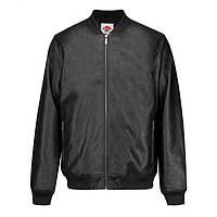 Мужская куртка бомбер Lee Cooper PU Bomber Jacket черная оригинал J0088 6939960905815