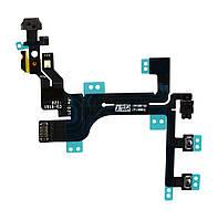 Шлейф (Flat, Flex cable) Apple iPhone 5c с кнопкой включения, кнопками громкости и микрофоном