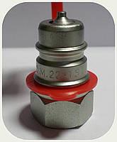 """БРС - Коннектор """"AL-Мale"""" (папа) красный, резьба M22x1,5"""