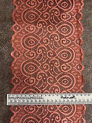 Стрейчевое кружево 18 см, 100 ярдов (коралл)