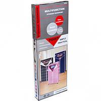 Шкаф разборной тканевый со штангой под вешалки и полкой, 150×45×70 см