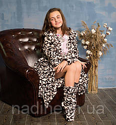 Халатик Eirena Nadine (426-46Латте) рост 146 молочный + сапожки