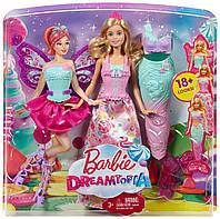 Кукла Барби сказочное перевоплощение или волшебное превращение 3 в 1 Barbie Dreamtopia Fairytale Dress Up Doll, фото 1