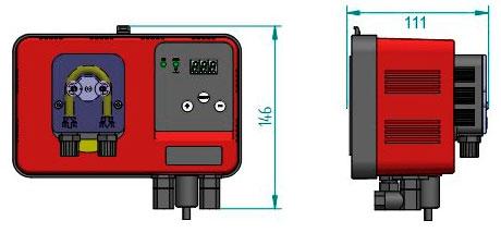 Габаритные размеры станция дозирования Microdos MP1–pH