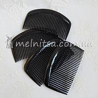 Основа - гребешок для волос, 8,5 см, черный