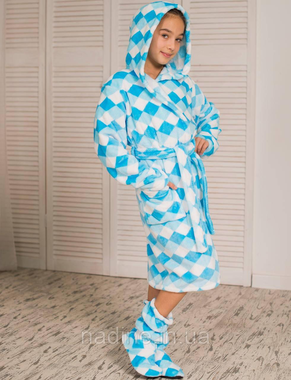Халат Eirena Nadine (476-40 Dream) зростання 140 +чобітки, блакитний