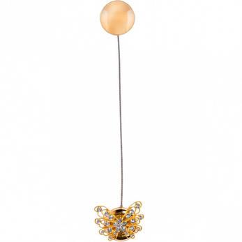 Магнит для штор «Бабочка» золото                  А-105 , фото 2