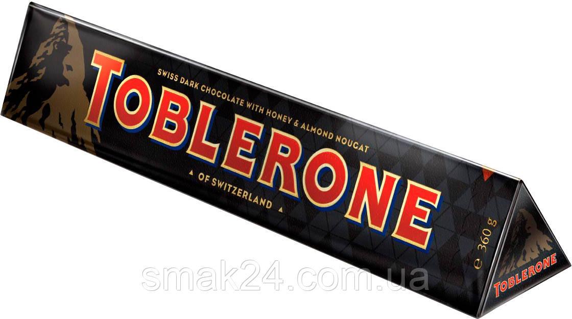 Швейцарский черный шоколад Tobleron с медом и миндальной нугой 360 г