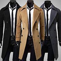 Мужское длинное шерстяное пальто. Модель 6338 d2ce3ba68fd76