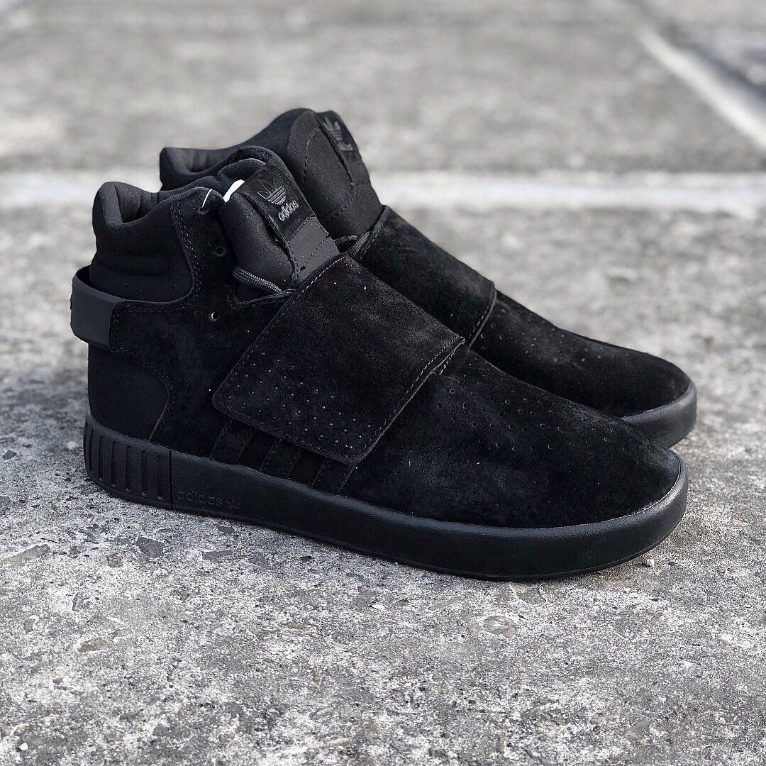 outlet store 1e689 408de Adidas Tubular Invader Strap Core Black | кроссовки мужские; черные;  высокие - Bigl.ua
