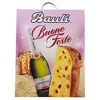 Панеттоне+Белое игристое сладкое вино Bauli Buone Festa.