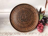 Керамическая тарелка из глины 25см, фото 1