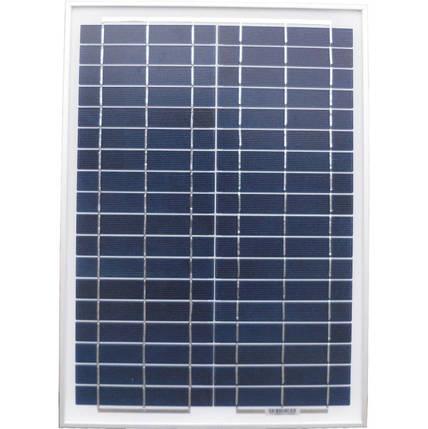 Солнечная панель 12V-20W, Солнечная батарея, банк энергии, мини электростанция, фото 2