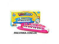 Пианино арт 732  музыка, свет, на батарейке, в коробке, 38-18-6,5 см
