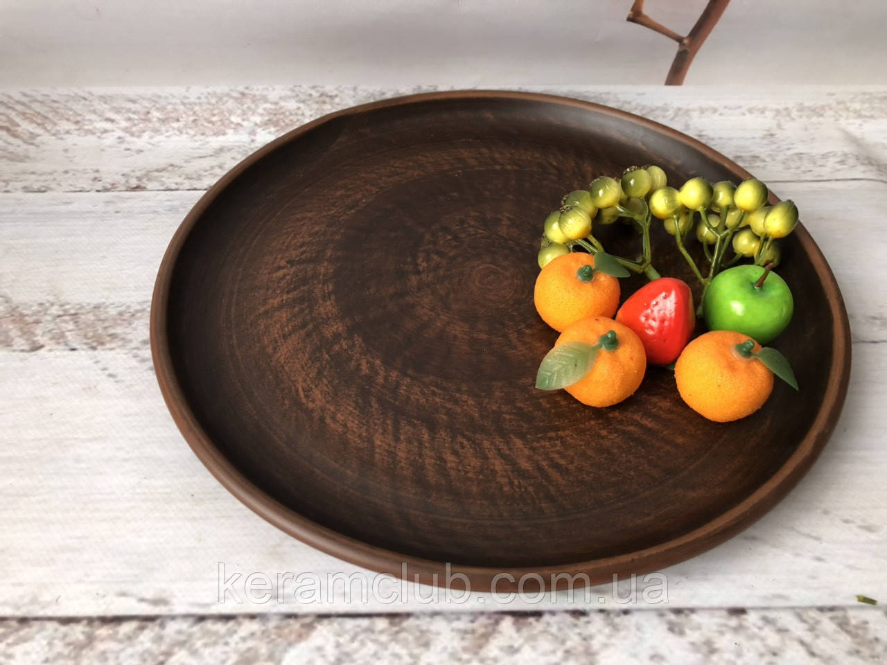 Глиняне блюдо Керамклуб 30см