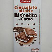 Шоколад молочный  с орео и какао Dolciando  Италия 100 г