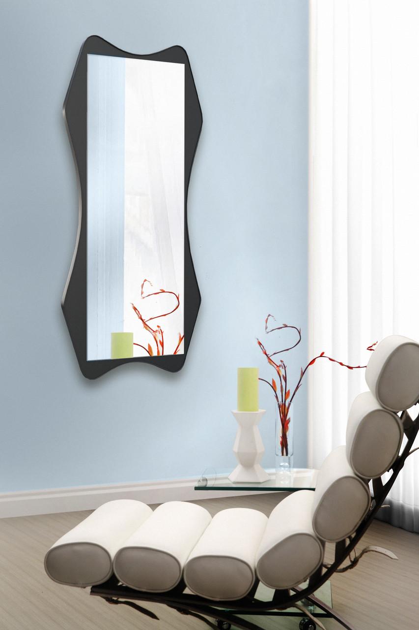 Зеркало на стену ростовое, венге 1300х600 мм