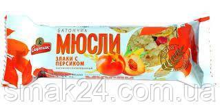 "Батончик-мюслі ""Злаки з персиком"" Спартак 35г"