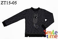 Свитшот детский утепленный для девочки р.104,110,116 SmileTime Cats, темно-синий