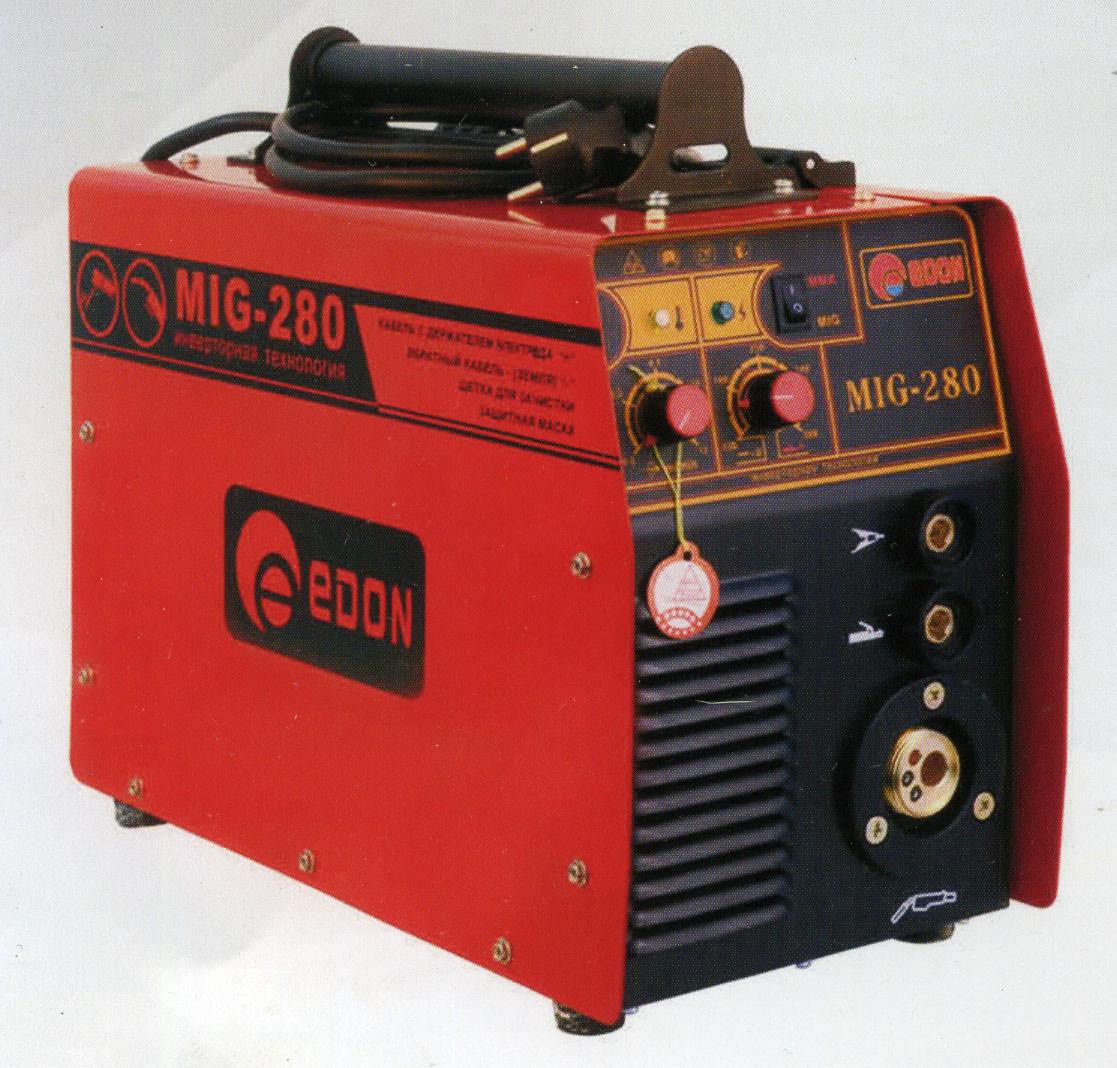 Сварочный инверторный полуавтомат Edon MIG-280 (+MMA)