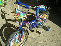 Велосипед  2-х колесный со  звонком ,зеркалом,ручным тормозом
