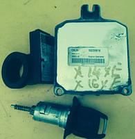 Блок управления двигателем комплект Opel Astra G 1.6 16V X16XEL / X16XE / X14XE / 16228919 CNJH / D98005 / Del