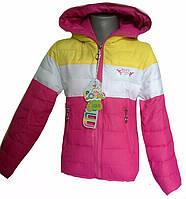 Яркая куртка для девочек, примерно  4-8 лет