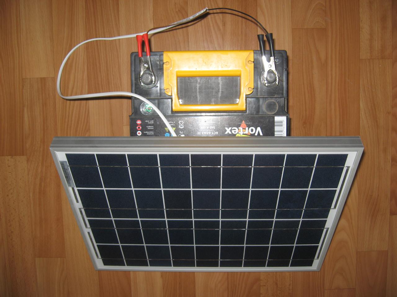 Солнечное зарядное устройство для авто 20 Вт + USB