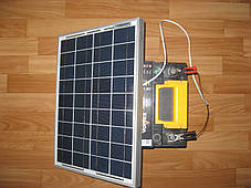 Солнечное зарядное устройство для авто 20 Вт + USB, фото 2