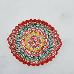 Шашличниця 40 см Накша. РИШТАН. Красива узбецька тарілка човник.