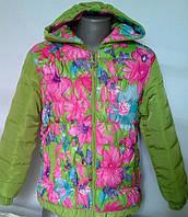 Яркая куртка для девочек в расцветках
