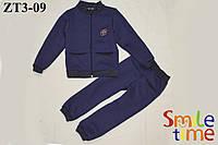 Костюм  детский утепленный р.98,104,116,122 с начесом SmileTime Pockets, индиго