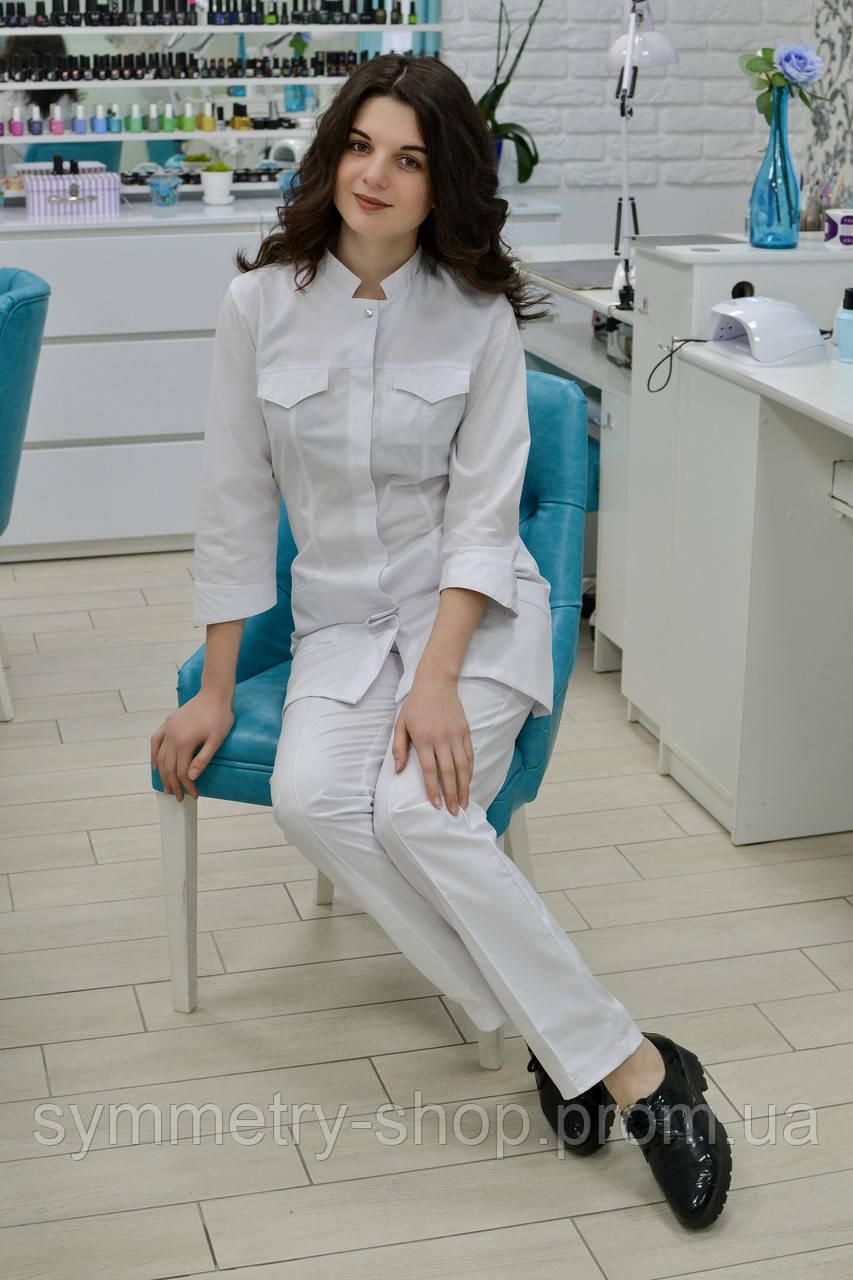 00501 Медицинский костюм, белый