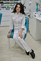 00501 Медицинский костюм, белый, фото 1