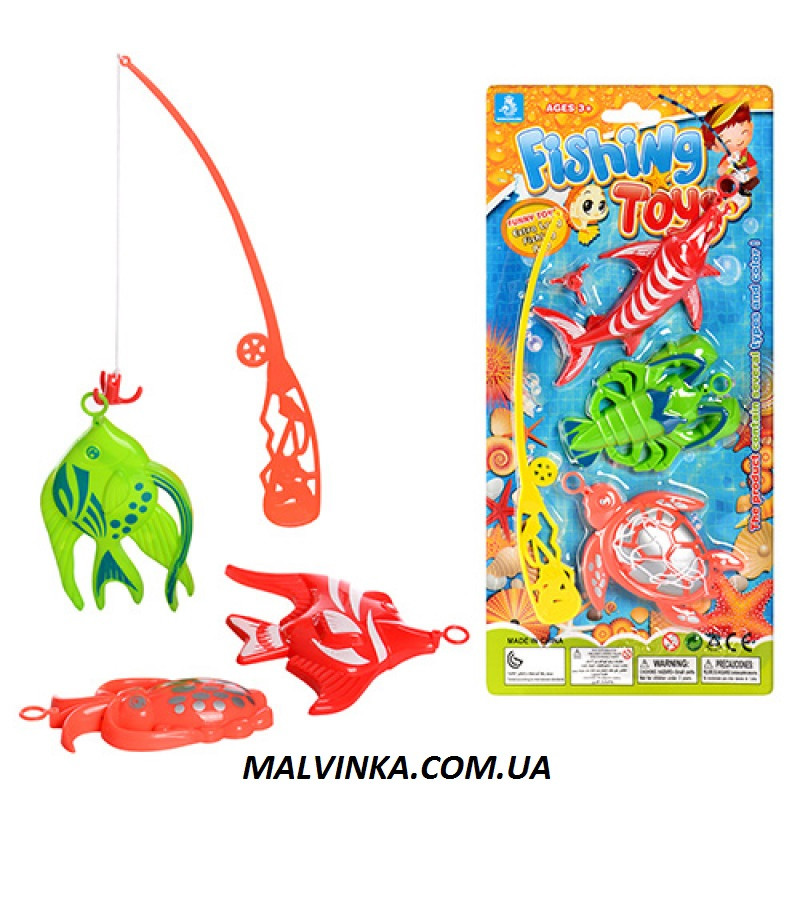 Рыбалка арт 2480 удочка с магнитом 21,5 см