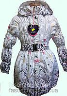 Удлиненная куртка для девочек в расцветках