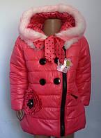 Яркая курточка для девочек, примерно   3-6 лет.