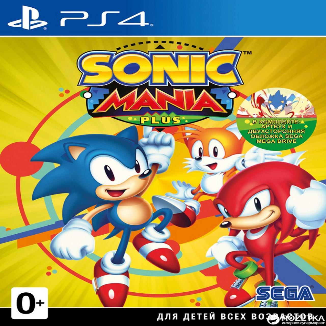 Sonic Mania (английская версия) PS4 (Б/У)