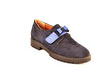 Подростковые туфли для девочек натуральная замша от производителя KARMEN 332111 37