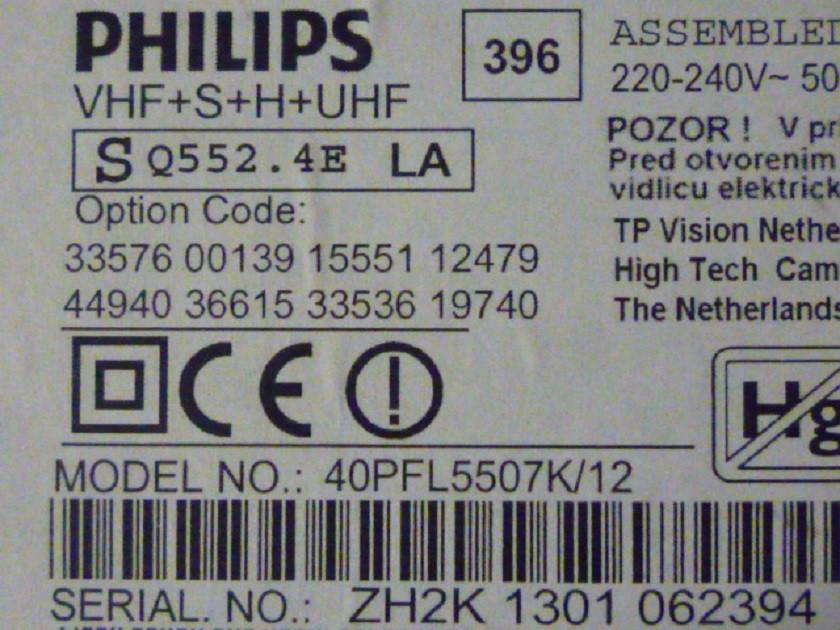 Плати від LED TV Philips 40PFL5507/12 по блоках (матриця розбита).