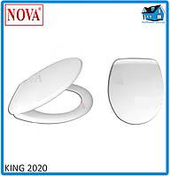Сидение (крышка) для унитаза King 2020, фото 1