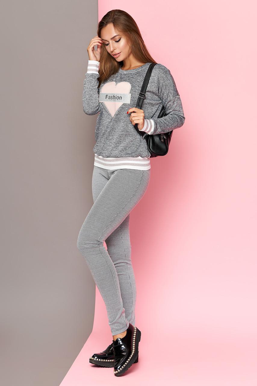 Трикотажные женские брюки-леггинсы