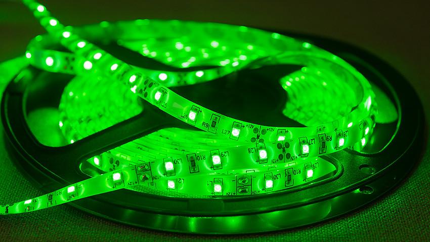 Dilux - Светодиодная лента SMD 3528 60LED/м, негерметичная IP33, зеленая.