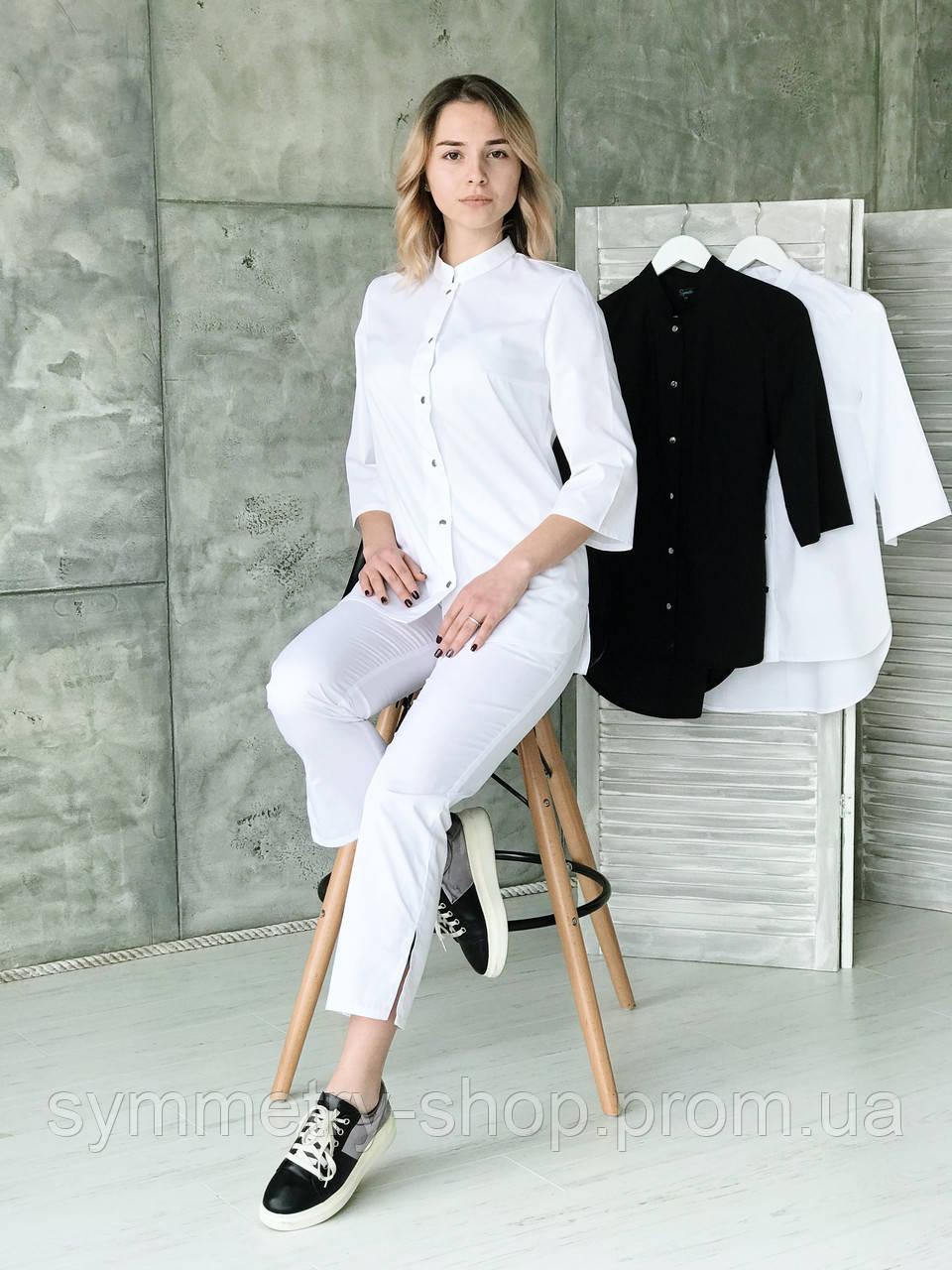 Костюм медицинский 0402 (с укороченными брюками), белый