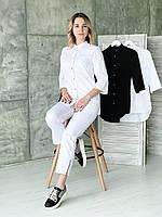 Костюм медицинский 0402 (с укороченными брюками), белый, фото 1