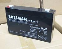Аккумулятор 6V 7Ah  Bossman profi 3FM7 - LA670